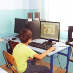 В компютърната зала